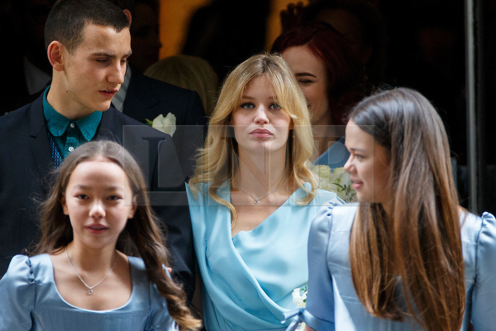 © Licensed to London News Pictures. 05/03/2016. London, UK. Georgia May Jagger leaving Rupert Murdoch and Jerry Hall's wedding ceremony at St Bride's Church in Fleet Street, London on Saturday, 5 March 2016. Photo credit: Tolga Akmen/LNP