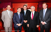 Don Garber MLS commissioner, Gary Bettman NHL commissioner, Tim Leiweke President and CEO of AEG, David Stern NBA commissioner and Roger Goodell NFL commissioner..attend The City of Hope Man of the Year Award at which Tim Leiweke was honored as man of the year at The Nokia Theater Times Square on May 28, 2009.