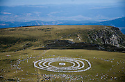 Aug. 19, 2015 - Separeva Banya, Bulgaria - <br /> <br /> White Brotherhood Marks Spiritual New Year In Bulgaria<br /> <br /> The traditional White Brotherhood gathering took place in the Bulgarian mountain of Rila, near the Babreka lake. The brotherhood's founder is Petar Danov. According to his teachings the August 19 th marks the beginning of the new devine year.The gathering is always based on the so called paneurhythmy dance. It takes place in the sun rise. Around 2 000 people danced this year. The World white brotherhood is founded in the beginning of the 20 th century by the bulgarian Petar Danov. Its philosophy contains christian exoterism combined with prayers, breathing routines and paneurhythmy Rila Mountain, Separeva Banya, Bulgaria on August 19, 2015. <br /> ©Exclusivepix Media