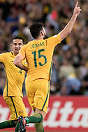 SYDNEY, NSW- NOVEMBER 15: Australian Mile Jedinak (15) celebrates his goal at the Soccer World Cup Qualifier between Australia and Honduras on November 10, 2017. (Photo by Steven Markham/Icon Sportswire)