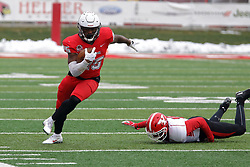 NORMAL, IL - November 17: James Robinson during a college football game between the ISU (Illinois State University) Redbirds and the Youngstown State Penguins on November 17 2018 at Hancock Stadium in Normal, IL. (Photo by Alan Look)