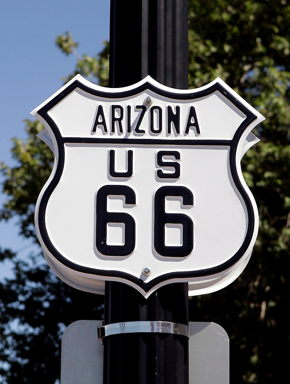 US-WILLIAMS: Sign along the famous Route 66. PHOTO: GERRIT DE HEUS