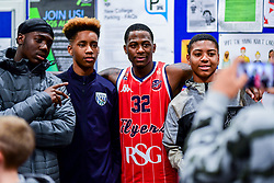 Jalan McCloud of Bristol Flyers after the final whistle of the match - Photo mandatory by-line: Ryan Hiscott/JMP - 03/11/2018 - BASKETBALL - SGS Wise Arena - Bristol, England - Bristol Flyers v Newcastle Eagles - British Basketball League Championship