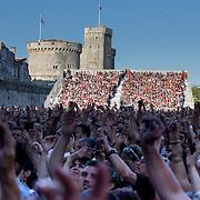 La foule lors du concert de yannick Noah aux francofolies de La Rochelle 2015