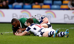 Danny Hobbs-Awoyemi of London Irish scores a try - Mandatory by-line: Robbie Stephenson/JMP - 17/05/2017 - RUGBY - Headingley Carnegie Stadium - Leeds, England - Yorkshire Carnegie v London Irish - Greene King IPA Championship Final 1st Leg