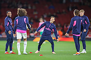 Arsenal warm up prior to the Europa League group stage match between Arsenal and FC Voskla Potlava at the Emirates Stadium, London, England on 20 September 2018.