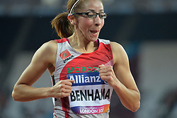 14/07/2017 : Sanaa Benhama (MAR), T13, 1500m (Women's) Final, at the 2017 World Para Athletics Championships, Olympic Stadium, London, United Kingdom