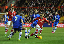Bristol City's James Tavernier controls the ball in the Johnstone's Paint Trophy south area final second leg match between Bristol City and Gillingham at Ashton Gate on 29 January 2015 in Bristol, England - Photo mandatory by-line: Paul Knight/JMP - Mobile: 07966 386802 - 29/01/2015 - SPORT - Football - Bristol - Ashton Gate Stadium - Bristol City v Gillingham - Johnstone's Paint Trophy
