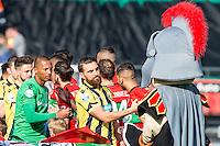 NIJMEGEN - NEC - Vitesse , Voetbal , Eredivisie , Seizoen 2016/2017 , Stadion de Goffert , 23-10-2016 , opkomst en het hand