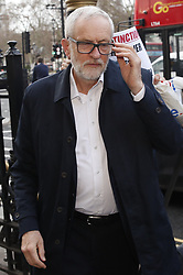 © Licensed to London News Pictures. 08/01/2020. London, UK. Out going  Labour leader Jeremy Corbyn arrives at Parliament. Photo credit: Peter Macdiarmid/LNP