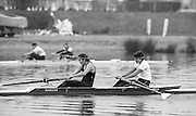 Staines, GREAT BRITAIN,   <br /> Womens Pair competing in the  British Rowing Women's Heavy Weight Assessment. Thorpe Park. Sunday 21.02.1988,<br /> <br /> [Mandatory Credit, Peter Spurrier / Intersport-images] 19880221 GBR Women's H/Weight Assesment Thorpe Park, Surrey.UK