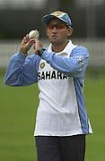 .Photo Peter Spurrier.20/06/02. 20020620, India Test Team, Nets, Lords. [Mandatory Credit Peter Spurrier:Intersport Images]