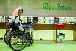 Veselka Pevec of Slovenia during Qualification of R5 - Mixed 10m Air Rifle Prone SH2 on day 6 during the Rio 2016 Summer Paralympics Games on September 13, 2016 in Olympic Shooting Centre, Rio de Janeiro, Brazil. Photo by Vid Ponikvar / Sportida
