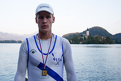 Jernej Markovc in category M4x (Coxed four) during rowing at Slovenian National Championship and farewell of Iztok Cop, on September 22, 2012 at Lake Bled, Ljubljana Slovenia. (Photo By Matic Klansek Velej / Sportida)
