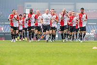 ROTTERDAM - Eerste training van Feyenoord , voetbal , seizoen 2015-2016 , Stadion De Kuip , 28-06-2015 , Spelers lopen warm