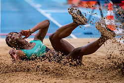 Meruska Eduarda in action on the long jump section<br /> during the Dutch Indoor Athletics Championship on February 22, 2020 in Omnisport De Voorwaarts, Apeldoorn