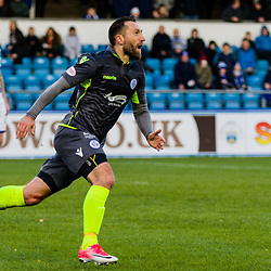 Stephen Dobbie (11) of Queen of the South celebrates after scoring during the Ladbrokes Scottish Championship game between Greenock Morton and Queen of the South at Cappielow Park on 4th November 2017 in Greenock, Scotland.   (c) BERNIE CLARK   SportPix.org.uk