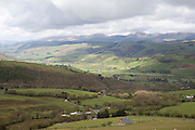 A scenic welsh valley in Powys, Wales.