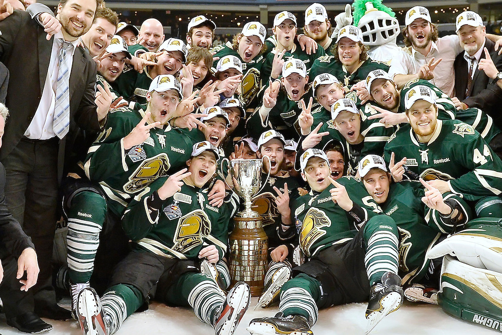 The London Knights defeated the Barrie Colts 3-2 to capture their 2nd consecutive Robertson Cup OHL Championship on Monday May 13, 2013.<br />