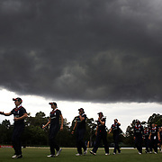 England win the match as a storm front moves over Sydney during the match between England and New Zealand in the Super 6 stage of the ICC Women's World Cup Cricket tournament at Bankstown Oval, Sydney, Australia on March 14 2009, England won the match by 31 runs. Photo Tim Clayton