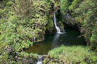 Waterfall along the Road to Hana, Maui