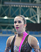 Neta Rivkin during final at clubs in Pesaro World Cup at Adriatic Arena on 28 April 2013. Neta was born on June 23, 1991 in Petah Tiqwa Israel. <br />