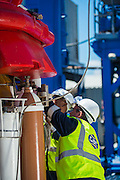 GAC Employees checking the LNG connections