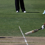 New Zealand wicket keeper Rachel Priest runs out Harmanpreet Kaur during the match between New Zealand and India in the Super 6 stage of the ICC Women's World Cup Cricket tournament at North Sydney  Oval, Sydney, Australia on March 17, 2009. Photo Tim Clayton