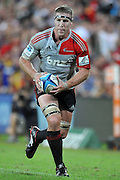 Brad Thorn makes a run down the line for the Crusaders ~ Super 15 rugby (Round 15) - Reds v Crusaders played at Suncorp Stadium, Brisbane, Australia on Sunday 29th May 2011 ~ Photo : Steven Hight (AURA Images) / Photosport