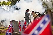 Confederate re-enactors fire a canon at Magnolia Cemetery to mark Confederate Memorial Day on May 10, 2011 in Charleston, South Carolina.  South Carolina is one of three states that marks the day as a public holiday.