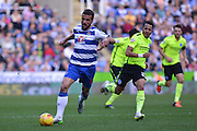 Reading's Carlos Orlando Sa carries the ball forward during the Sky Bet Championship match between Reading and Brighton and Hove Albion at the Madejski Stadium, Reading, England on 31 October 2015. Photo by Mark Davies.