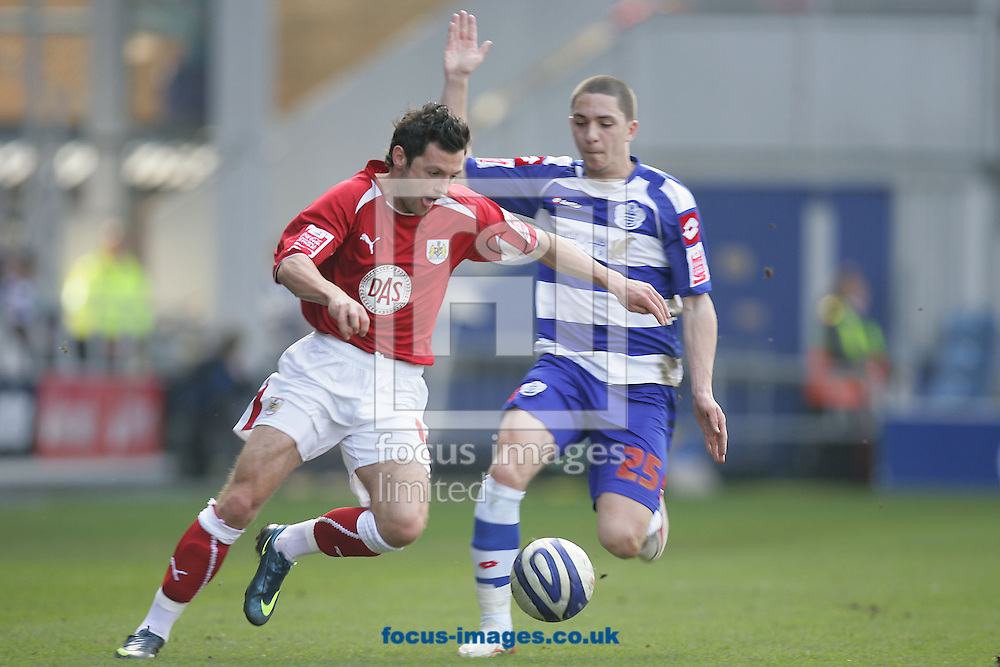 London - Saturday March 21st, 2009: Hogan Ephraim (R) of QPR in action against Ivan Sproule of Bristol City during the Coca Cola Championship match at Loftus Road, London. (Pic by Mark Chapman/Focus Images)