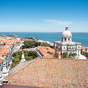 LISBON, Portugal - The Monastery of São Vicente de Fora is a 17th-century church and monastery in the Alfama neighborhood of Lisbon. It features ornately decorated sections in the Baroque style as well as the Braganza Pantheon, where the kings who ruled Portugal between 1640 and 1910 are interred.