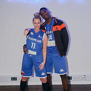 London,England,UK. 14th May 2017. Teresa Brantlova is a player for the Charity Game at the BBL Play-Off Finals also fundraising for Hoops Aid 2017 but also a major fundraising opportunity for the Sports Traider Charity at London's O2 Arena, UK. by See Li