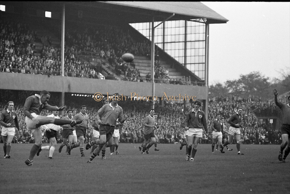Irish Rugby Football Union, Ireland v Australia, Tour Match, Landsdowne Road, Dublin, Ireland, Saturday 26th October, 1968,.26.10.1968, 10.26.1968,..Referee- W K M Jones, Welsh Rugby Union, ..Score- Ireland 10 - 3 Australia, ..Irish Team, ..T J Kiernan,  Wearing number 15 Irish jersey, Captain of the Irish team, Full Back, Cork Constitution Rugby Football Club, Cork, Ireland,..J C M Moroney, Wearing number 14 Irish jersey, Right Wing, London Irish Rugby Football Club, Surrey, England, ..F P K Bresnihan, Wearing number 13 Irish jersey, Right Centre, University College Dublin Rugby Football Club, Dublin, Ireland, ..L M Hunter, Wearing number 12 Irish jersey, Left Centre, Civil Service N.I Rugby Football Club, Belfast, Northern Ireland, ..J J Tydings, Wearing number 11 Irish Jersey, Left Wing, Young Munster Rugby Football Club, Limerick, Ireland, ..C M H Gibson, Wearing number 10 Irish jersey, Stand Off, N.I.F.C, Rugby Football Club, Belfast, Northern Ireland, ..R M Young, Wearing number 9 Irish jersey, Scrum Half, Queens University Rugby Football Club, Belfast, Northern Ireland,..M L Hipwell, Wearing number 8 Irish jersey, Forward, Terenure Rugby Football Club, Dublin, Ireland, ..M G Doyle, Wearing number 7 Irish jersey, Forward, Blackrock College Rugby Football Club, Dublin, Ireland,  ..K G Goodall, Wearing number 6 Irish jersey, Forward, City of Derry Rugby Football Club, Derry, Northern Ireland,..M G Molloy, Wearing number 5 Irish jersey, Forward, University College Galway Rugby Football Club, Galway, Ireland,  ..W J McBride, Wearing number 4 Irish jersey, Forward, Ballymena Rugby Football Club, Antrim, Northern Ireland,..O C Waldron, Wearing number 3 Irish jersey, Forward, London Irish Rugby Football Club, Surrey, England, ..K W Kennedy, Wearing number 2 Irish jersey, Forward, C I Y M S Rugby Football Club, Belfast, Northern Ireland, ..S Millar, Wearing number 1 Irish jersey, Forward, Ballymena Rugby Football Club, Antrim, Northern Ireland,..Australian Team, ..B H