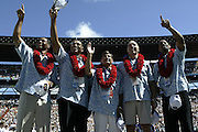 Hall of Fame Inductees at the 2003 Pro Bowl, the NFL All-Star Game at Aloha Stadium in Hawaii on 02/02/2003. The  AFC intercepted 6 passes to defeat the NFC for the third year in a row, this time by a score of 45 to 20. ©Paul Anthony Spinelli