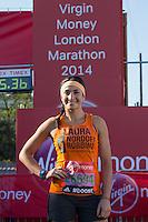 Laura Wright in Greenwich Park ahead of the start of The Virgin Money London Marathon 2014 on Sunday 13 April 2014<br /> Photo: Neil Turner/Virgin Money London Marathon<br /> media@london-marathon.co.uk