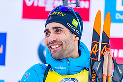 16.01.2020, Chiemgau Arena, Ruhpolding, GER, IBU Weltcup Biathlon, Sprint, Herren, Siegerehrung, im Bild Martin Fourcade (FRA) // Martin Fourcade of France during the winner ceremony for the men's sprint competition of BMW IBU Biathlon World Cup at the Chiemgau Arena in Ruhpolding, Germany on 2020/01/16. EXPA Pictures © 2020, PhotoCredit: EXPA/ Stefan Adelsberger
