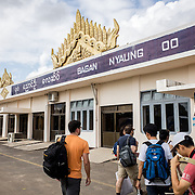 The main (and only) terminal of Bagan Nyaung Aiport, one of only three airports in Myanmar. This one is close to the Bagan Archaeological Zone.