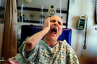 Paul starts to feel the pain associated with the luing transplant surgery. Doctors had to react quickly to control the pain, which was an eight on a scale of 1 to 10.