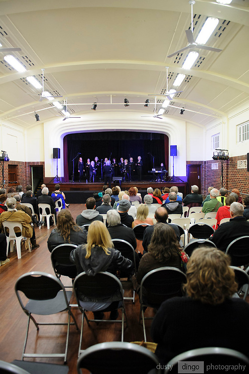 Take Note choir performing in the Guildford Town Hall, part of the 2018 Guildford Songfest