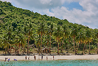 Nacapan Palawan Philippines-April 5, 2015 :islands people playing on beaches between El Nido and coron in Palawan Philippines