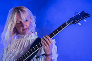 Laura Marling and Mike Lindsay play together in LUMP -The 2018 Latitude Festival, Henham Park. Suffolk 13 July 2018