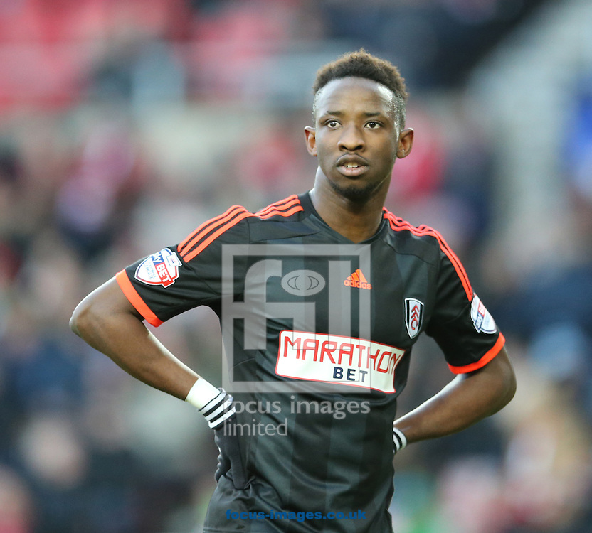 Moussa Dembele of Fulham during the FA Cup match at the Stadium Of Light, Sunderland<br /> Picture by Simon Moore/Focus Images Ltd 07807 671782<br /> 24/01/2015