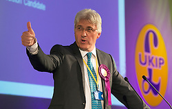 © Licensed to London News Pictures. 26/09/2014. Doncaster, UK. John Bickley.  The UKIP conference at Doncaster Racecourse Friday 26th September 2014. Photo credit : Stephen Simpson/LNP