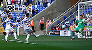 Picture by Andrew Tobin/Focus Images Ltd. 07710 761829. 24/03/12 Ian Harte of Reading scores his first goal during the Npower Championship match at Madejski stadium, Reading.