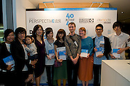 The laureates of the Graphic/News Media section at the Perspective magazine 40 Under 40 awards ceremony in Hong Kong on May 5th 2011.