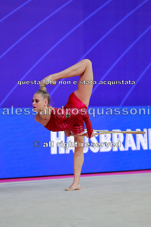 Peschel Noemi during the qualification of hoop at the Pesaro World Cup 2018. His dream is to compete to compete at the 2020 Olympic Games in Tokyo.