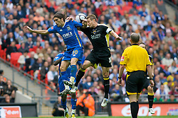 LONDON, ENGLAND - Saturday, May 17, 2008: Cardiff City's Pedro Mendes and Portsmouth's Stephen McPhail during the FA Cup Final at Wembley Stadium. (Photo by Chris Ratcliffe/Propaganda)