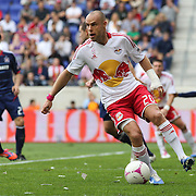 Joel Lindpere, New York Red Bulls, in action during the New York Red Bulls V Chicago Fire Major League Soccer regular season match at Red Bull Arena, Harrison. New Jersey. USA. 6th October 2012. Photo Tim Clayton